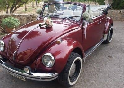 VW Beatles rojo mallorca bodas