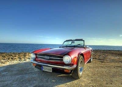 Triumph TR6 mallorca driving