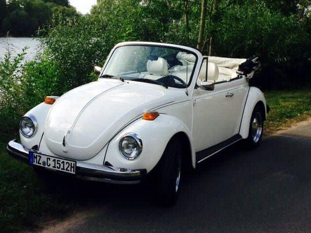 VW Beetle Cabrio Blanco